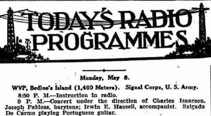Hassell radio 1922