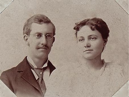 Bert Watson & Jessie Hermans - Graduation - 1895