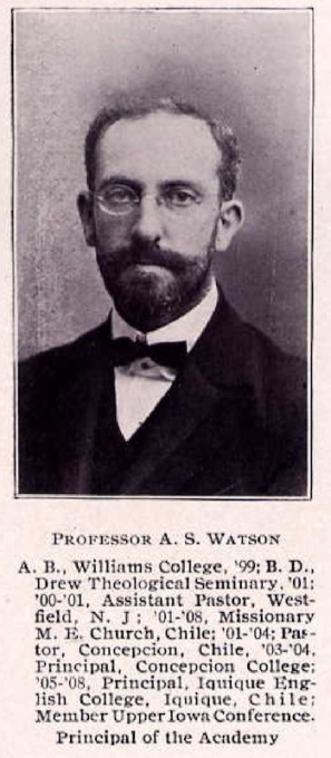 Prof A S Watson Cornell College 1910 2