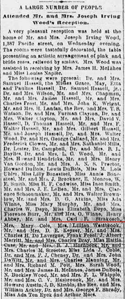 WOOD-HENDRICKS Wedding Reception 21 Feb 1894 copy