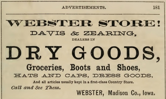 Davis-Zearing ad 1869