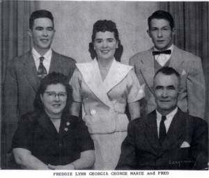 Fred Fox family, c 1950