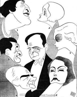 Hirschfield Dinner at Eight (1932)